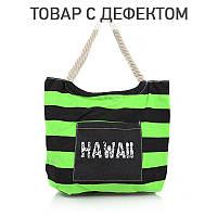Женская сумка для пляжа B1268BGblack-green купить женскую сумку опт дешево