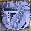 Мягкая накидка с паралоном на табурет Фиолетовая коса, комплект 4шт.
