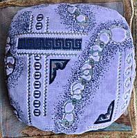 Мягкая накидка с паралоном на табурет Фиолетовая коса