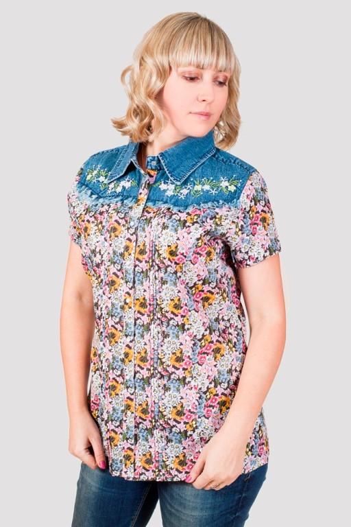 Женская летняя блуза  JEANS