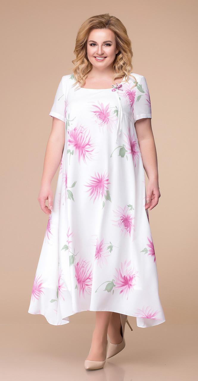 Платье Romanovich-1-1332/3 белорусский трикотаж, белый, 48