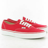 Кеды Vans Red Authentic красные