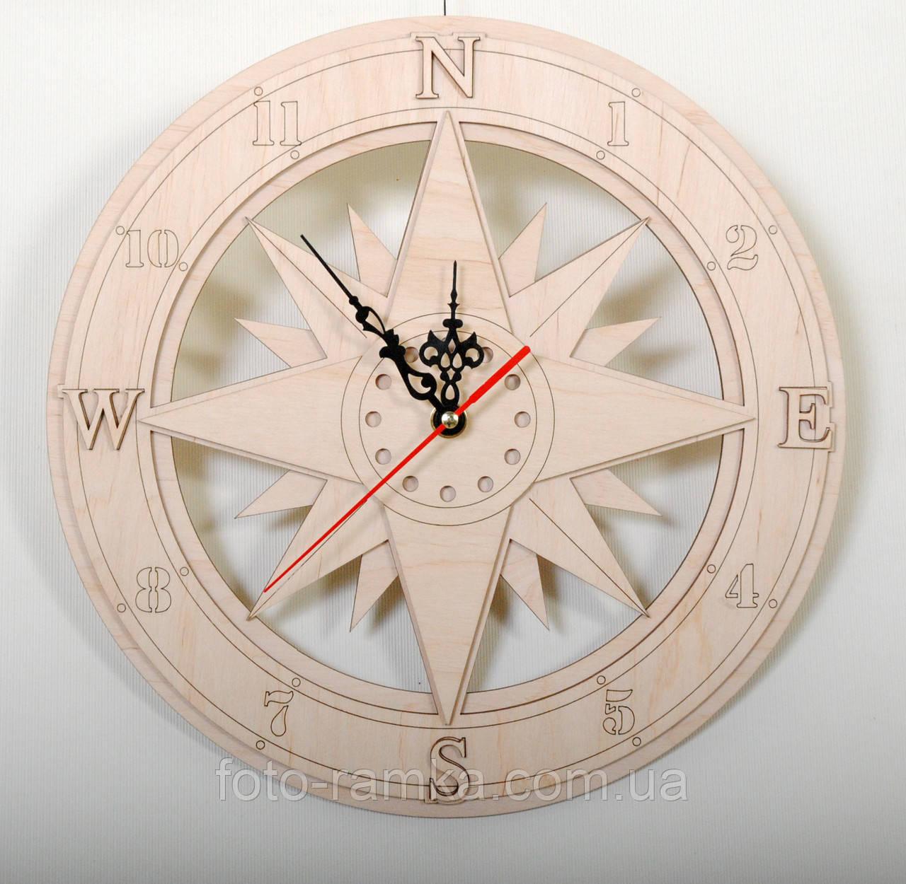 Часы 30 см  компас