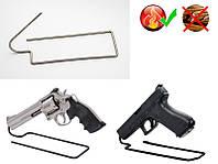 Подставка Держатель под Пистолет №4 на 1 единицу из нержавеющей стали