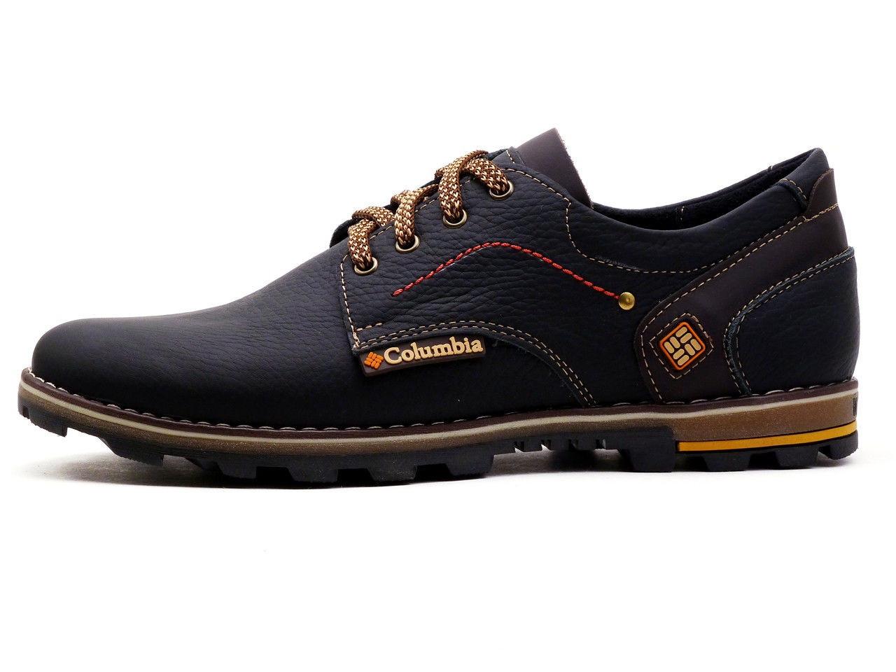 Мужские кожаные кроссовки Columbia flotar (реплика)
