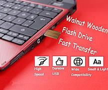 USB Flash накопитель 16 ГБ EASTBULL дерево USB 2.0 орех, фото 2