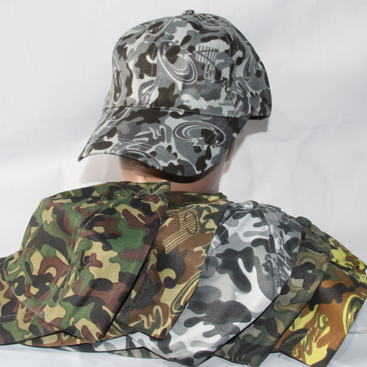Кепка чоловіча камуфляжна р-р 58 (до 5 різних кольорів) оптом недорого. Одеса(7км)