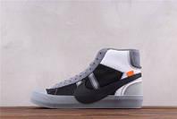 Чоловічі кросівки Off-White x Nike Blazer MID grey, фото 1