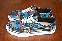 Кеды Vans Winter Knit цветные узоры