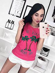 """Женская футболка """"Пальма"""""""
