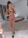 Женский стильный комбинированный брючный комбинезон (в расцветках), фото 6