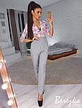 Женский стильный комбинированный брючный комбинезон (в расцветках), фото 9