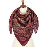 10440-5, павлопосадский платок шерстяной (разреженная шерсть) с швом зиг-заг, фото 2