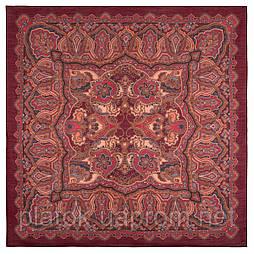 10440-5, павлопосадский платок шерстяной (разреженная шерсть) с швом зиг-заг