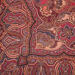 10440-5, павлопосадский платок шерстяной (разреженная шерсть) с швом зиг-заг, фото 3