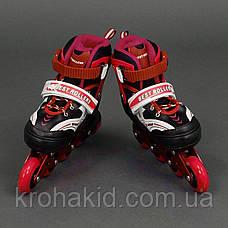 Ролики Best Rollers 1002 M (34-37)  КРАСНЫЕ, фото 2