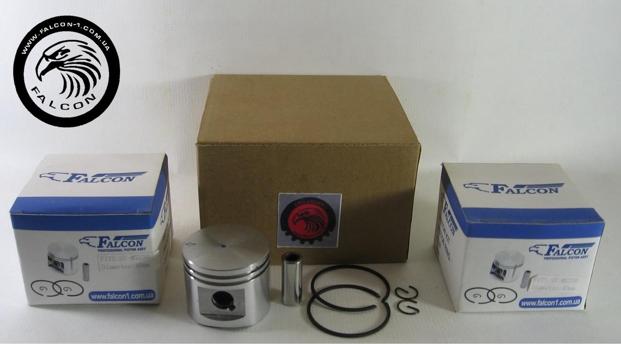 Поршень Stihl MS 023, MS 230 (11230302019) D=40 мм в сборе для бензопил Штиль
