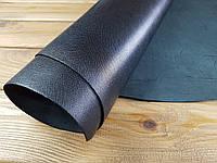 Кожа натуральная с тиснением портофино т. 1,6-1,8мм цвет черный