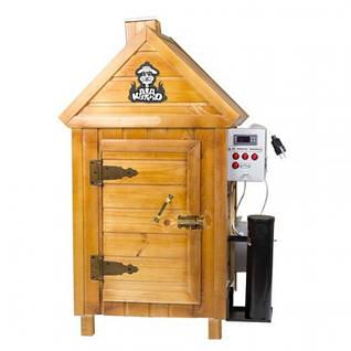 Коптильни горячего и холодного копчения с деревянным шкафом