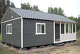 Дачный домик 6м × 8м, 2 этажа из блокхауса с террасами., фото 2