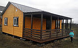 Дачный домик 6м × 8м, 2 этажа из блокхауса с террасами., фото 3