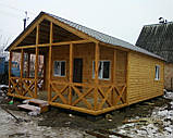 Дачный домик 6м × 8м, 2 этажа из блокхауса с террасами., фото 6
