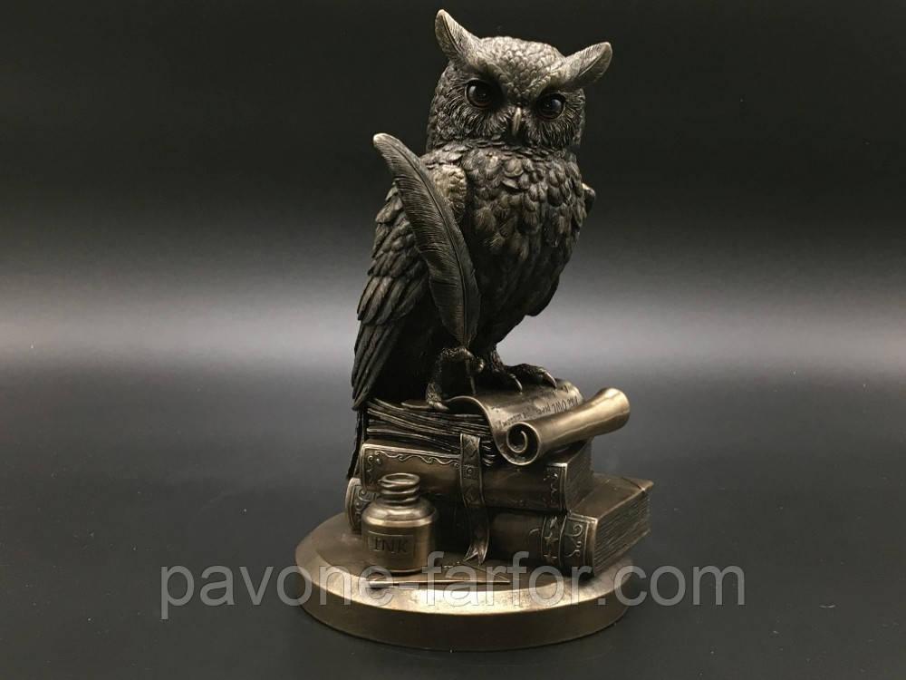 """Дизайнерская статуэтка Veronese """"Сова на книгах"""" 75033A4, фото 1"""