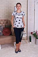 Комплект   футболка и капри для сна и отдыха  Nicoletta 82442, фото 1