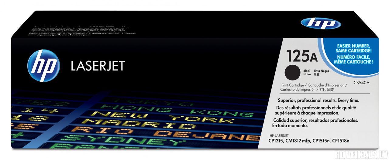 Заправка картриджа HP CB540A (125A) черный