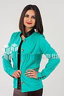 Пиджак ветровка женский из качественной плащевки, без подкладки, два цвета р.46 код 2083М