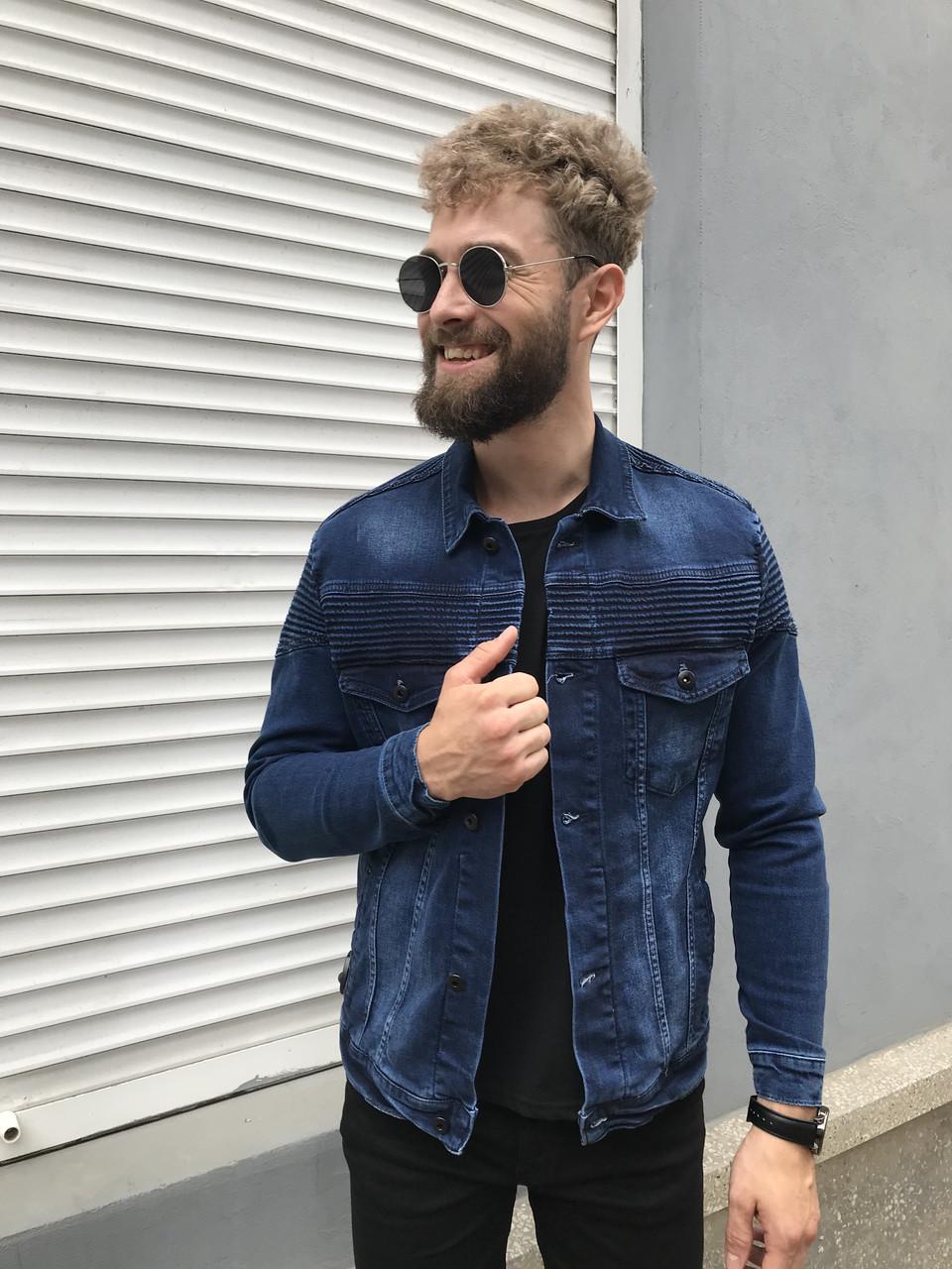 54bc1199f41 Джинсовка мужская синяя - MILLIONAIRE оптом мужская одежда в Черновцах