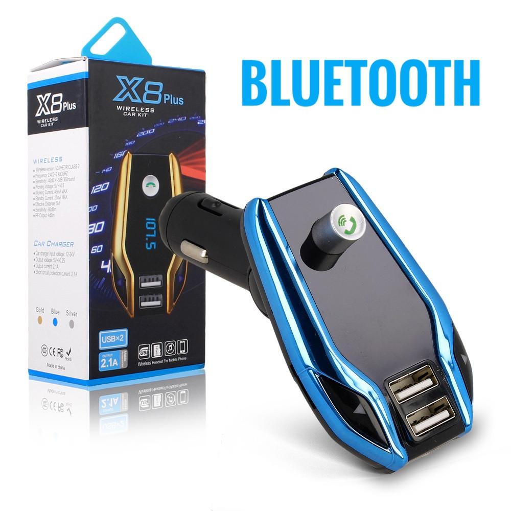 FM модулятор X8 Plus. Bluetooth трансмиттер