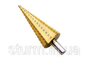 Сверло ступенчатое по металлу 4-32мм Sturm 1055013, титановое покрытие