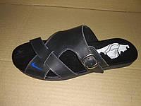 Мужские кожаные шлепки Nike Big шлепанцы больших размеров 46,47,48,49,50