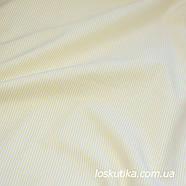 51006 Полоска (бежевый-желтый). Ткани для кукол, декорирования и лоскутного шитья. 100% хлопок., фото 2