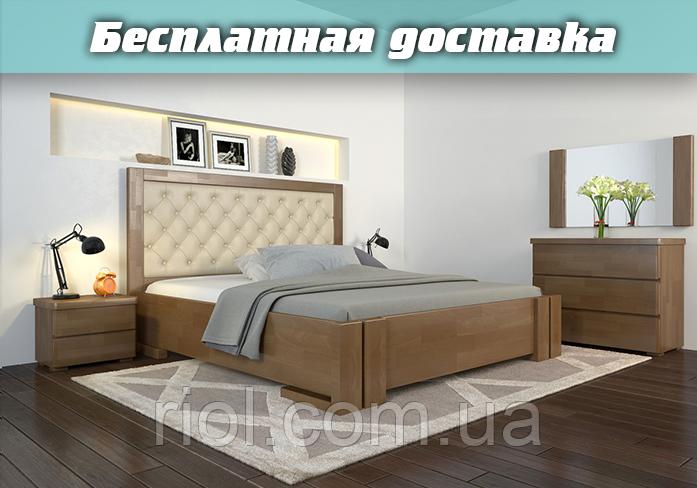 Кровать деревянная Амбер Ромб с подъемным механизмом