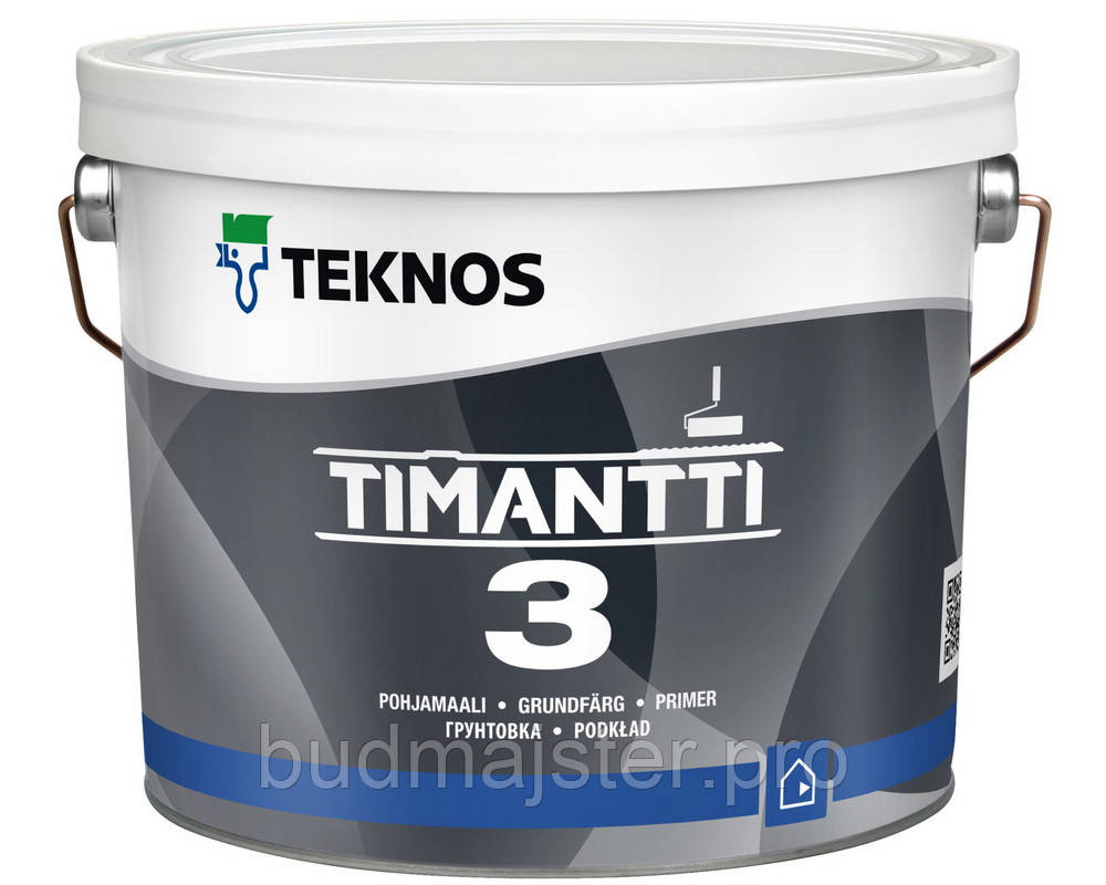 Фарба Teknos Тімантті 3 грунтуюча Б1, 2,7 л