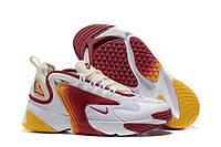 """Кроссовки мужские кожаные Nike Zoom 2K """"Белые с оранжевым"""" найк зум р.40-45"""
