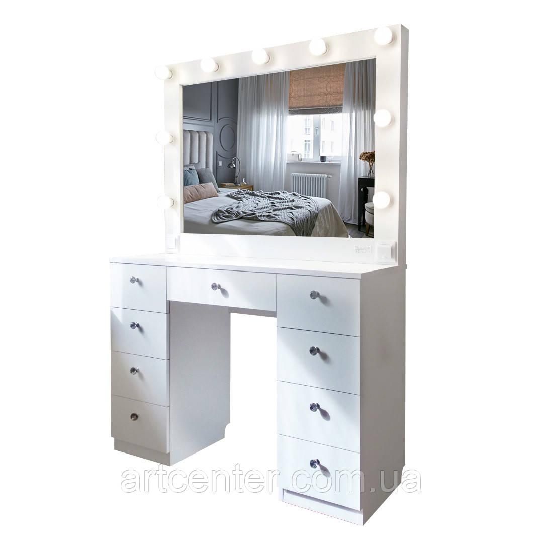 Гримерный стол, стол для визажиста, туалетный стол, стол с зеркалом