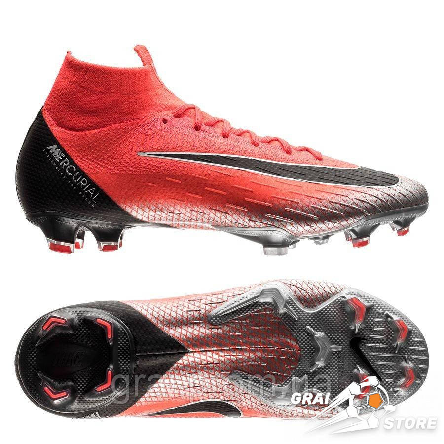 7042a8b4 Бутсы Nike Mercurial Superfly VI Elite FG CR7 Red/Black — в ...