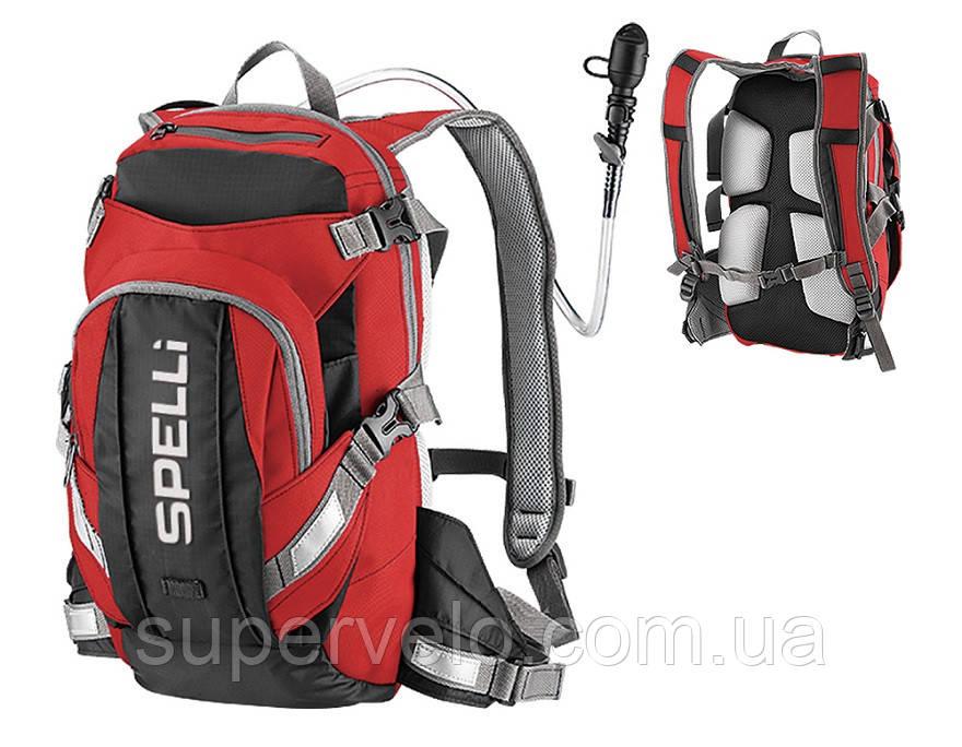 8fe7f025e4fb Купить Вело рюкзак с гидратором красный Spelli в Украине от компании ...
