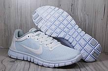 Белые кроссовки сетка в стиле Nike Free Run 3.0 унисекс