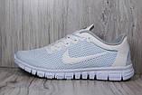 Белые кроссовки сетка в стиле Nike Free Run 3.0 унисекс, фото 2