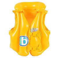 BW Жилет надувной 32034 желтый, 51-46см