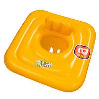 Детский Круг-плотик надувной BW 32050 детский желтый 69-69 см