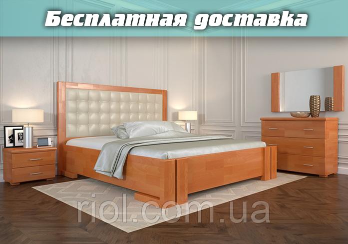 Кровать деревянная Амбер с подъемным механизмом