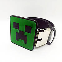 """Поясной ремень Vero Forte """"Minecraft Creeper"""" Черный"""