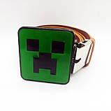 Ремень пояс Minecraft Creeper кожзаменитель коричневый, фото 2
