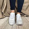 Женские белые кроссовки натуральной кожи с перфорацией, фото 3