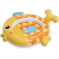 Бассейн детский надувной INTEX 57111 Золотая рыбка, 140-24-34см, ремкомплект, +ПОДАРОК